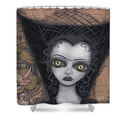 Dark Lily Shower Curtain by Abril Andrade Griffith