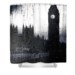 Shower Curtain featuring the digital art Dark London by Fine Art By Andrew David