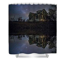 Dark Mirror Shower Curtain