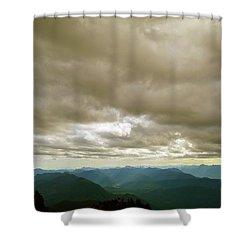 Dark Mountains Too Shower Curtain