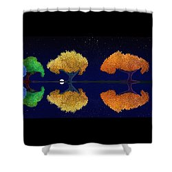 Dark Night Dance Shower Curtain