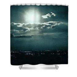 Dark Night Shower Curtain by Paul Cristian Panaete