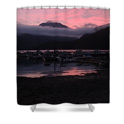 Dark Pink Sunset Shower Curtain