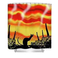 Dark Satanic Mills  Shower Curtain