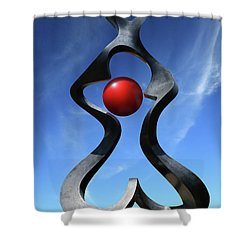 Shower Curtain featuring the photograph Introspection Sculpture by Christopher McKenzie