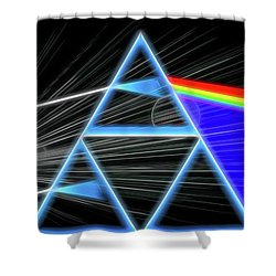 Shower Curtain featuring the digital art Dark Side Of The Moon by Dan Sproul