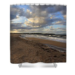 Dark Skies And Sea - Nova Scotia Seascape Shower Curtain