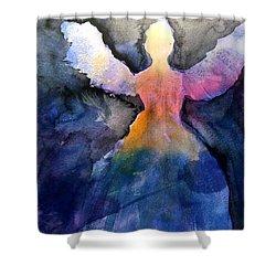 Dark Skies Angel Shower Curtain by Jeanne MCBRAYER
