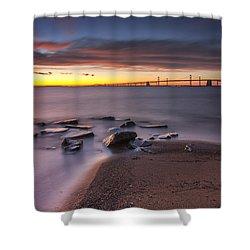 Shower Curtain featuring the photograph Dark Stirs Awake by Edward Kreis