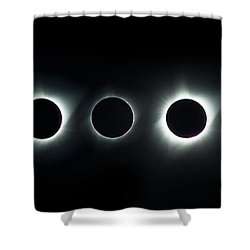 Dark Sun Shower Curtain by James Heckt
