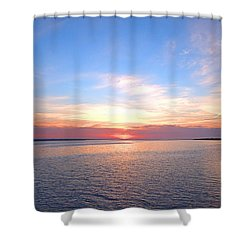Dark Sunrise I I Shower Curtain by  Newwwman