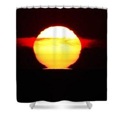 Dark Sunrise Shower Curtain
