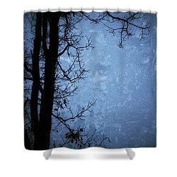 Dark Tree Silhouette  Shower Curtain