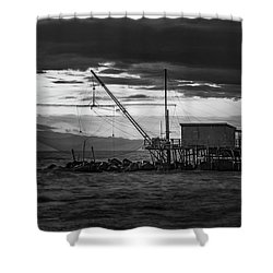 Dark Waters Shower Curtain