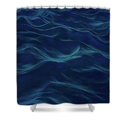 Dark Waves Shower Curtain