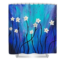 Shower Curtain featuring the painting Dark Willow  by Jennah Lenae