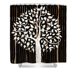 Shower Curtain featuring the painting Dark Winter by Patricia Arroyo