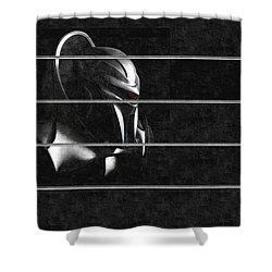 Shower Curtain featuring the digital art Dark Zylon by Mario Carini