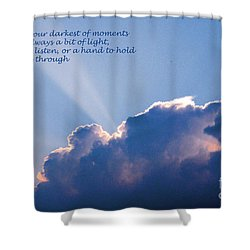 Darkest Of Moments Shower Curtain