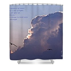 Darkest Of Times Shower Curtain