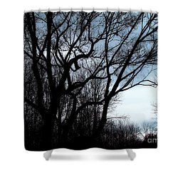 Shower Curtain featuring the photograph Darkness Approaches by Sue Melvin