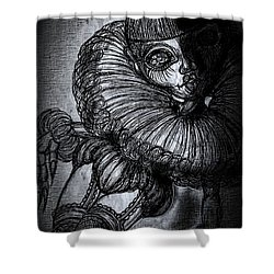 Darkness Clown Shower Curtain