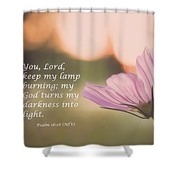 Darkness Into Light Shower Curtain