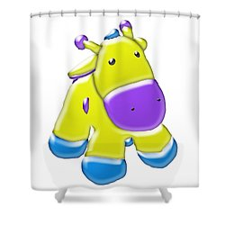 Darling Calf Cartoon Shower Curtain