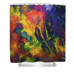 Darling Darker Dragonfly Shower Curtain
