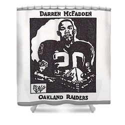 Shower Curtain featuring the drawing Darren Mcfadden 2 by Jeremiah Colley