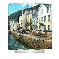 Bayards Cove Dartmouth Devon  Shower Curtain