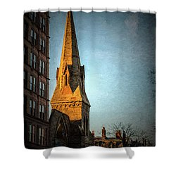 Dartmouth Street In Boston Shower Curtain