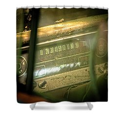 Dashboard Glow Shower Curtain