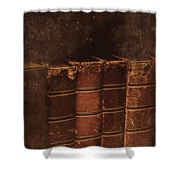 Shower Curtain featuring the photograph Dated Textbooks by Jorgo Photography - Wall Art Gallery