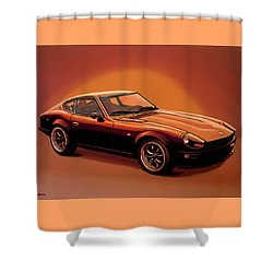 Datsun 240z 1970 Painting Shower Curtain by Paul Meijering