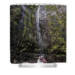 Dave And Elaine At Waimoku Falls Shower Curtain