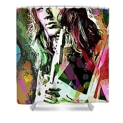 Dave Gilmour Dark Side Shower Curtain