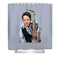 Dave Koz Shower Curtain