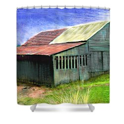 Dave's Barn Shower Curtain