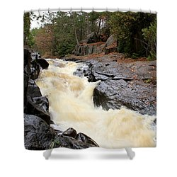 Shower Curtain featuring the photograph Dave's Falls #7284 by Mark J Seefeldt