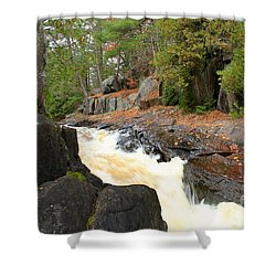 Shower Curtain featuring the photograph Dave's Falls #7311 by Mark J Seefeldt