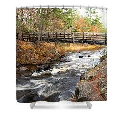 Shower Curtain featuring the photograph Dave's Falls #7480 by Mark J Seefeldt