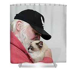 David And Mr Atkin Shower Curtain