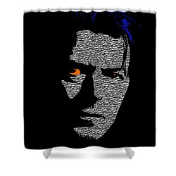David Bowie 1 Shower Curtain by Emme Pons