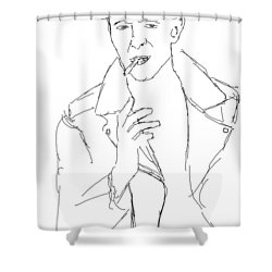 David Bowie Shower Curtain by Angela Murray