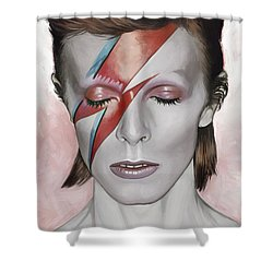 David Bowie Artwork 1 Shower Curtain by Sheraz A