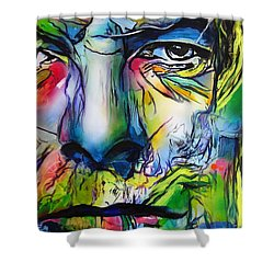 David Bowie Shower Curtain by Eric Dee