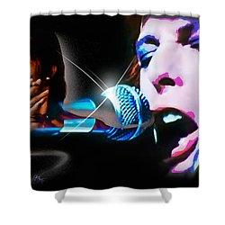 Shower Curtain featuring the photograph David Bowie  - Jean Genie by Glenn Feron