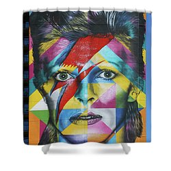 David Bowie Mural # 3 Shower Curtain