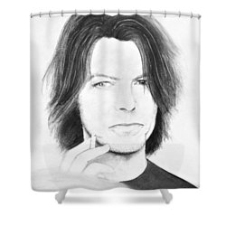 David Bowie - No Pressure Shower Curtain